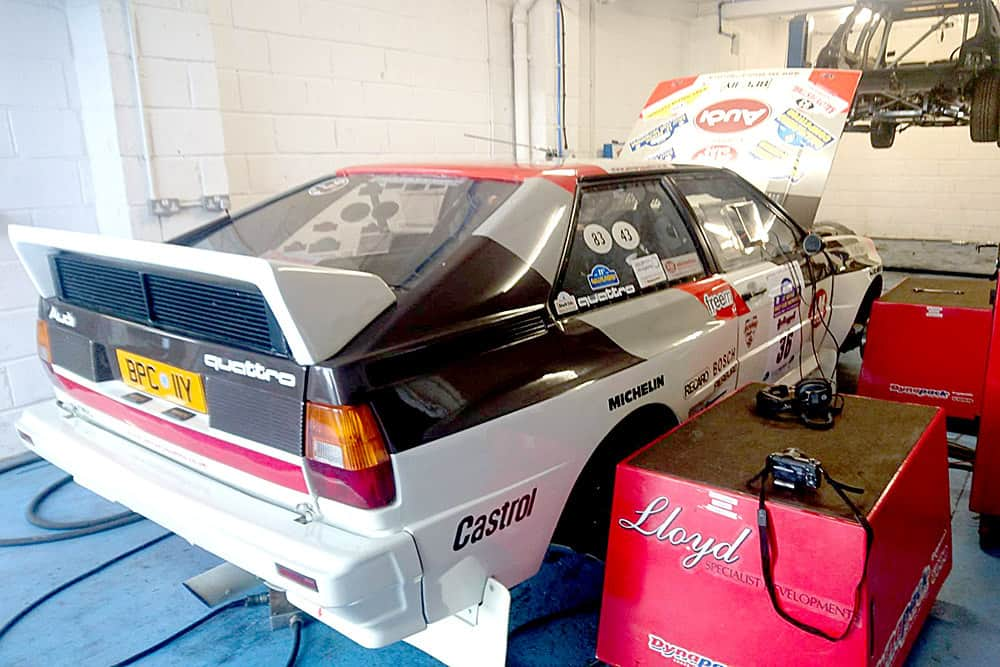 Audi Quattro on the Dyno