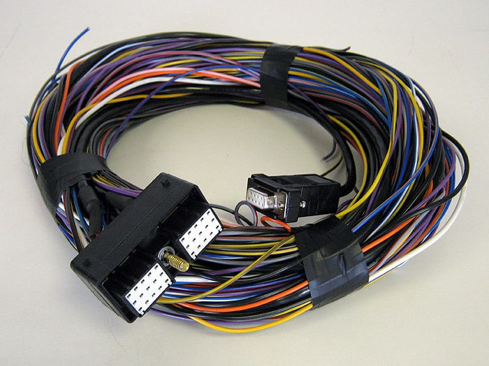 Canems ECU 30-pin Multi-Plug pre-connected to 2 metres of colour coded thin wall cable.